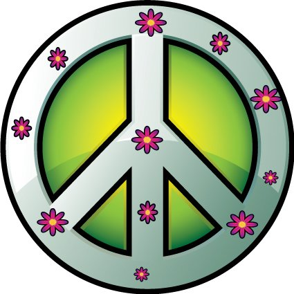 1960s Hippy Theme backdrop