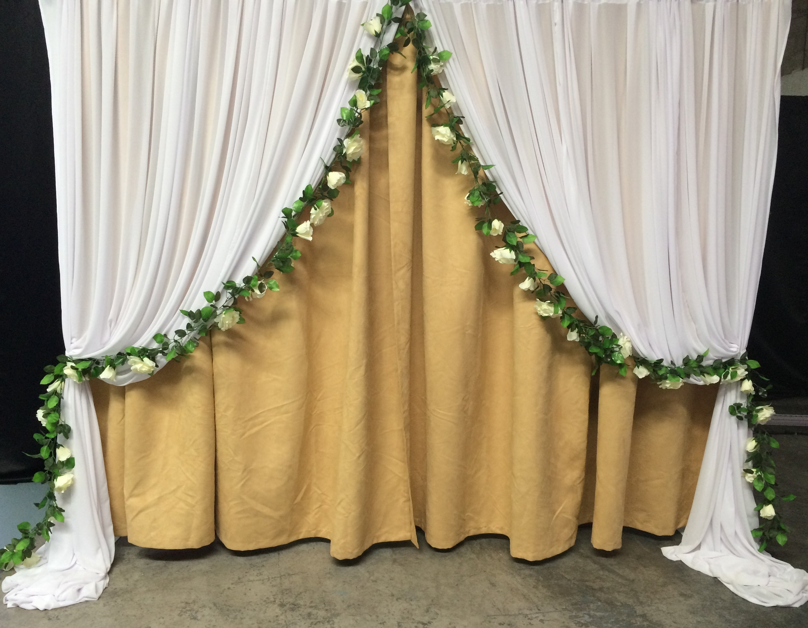 Rustic themed with rose garland $150 incl frames & gst