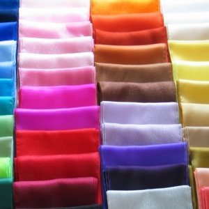 Satin Chair Sash and Table runners available in a huge range of colours