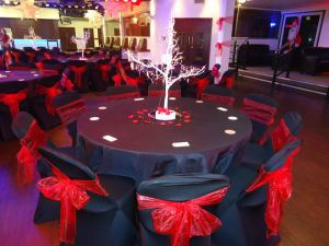 decorated venue