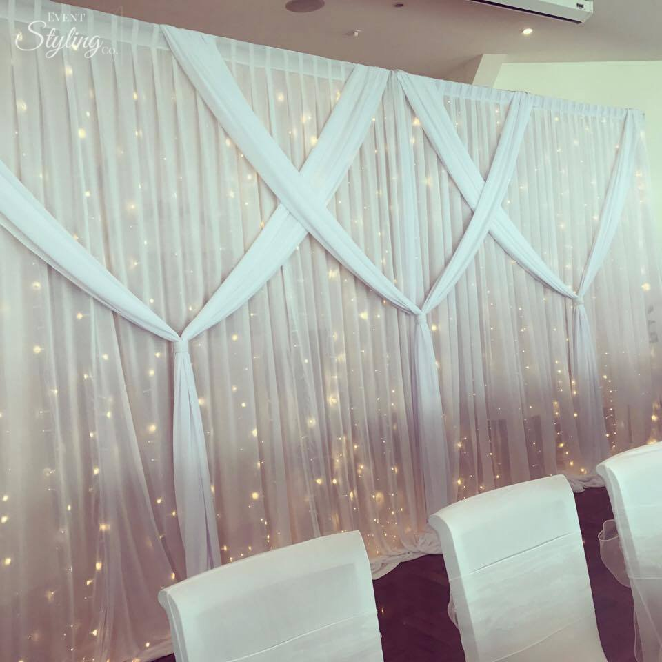 Fairy Curtain with bespoke draping