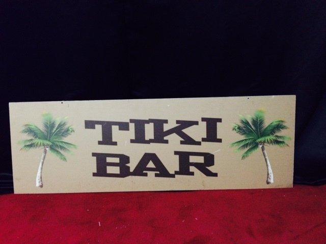 Prop Luau Tiki Bar Sign 1.2m x 0.40m $15 incl gst