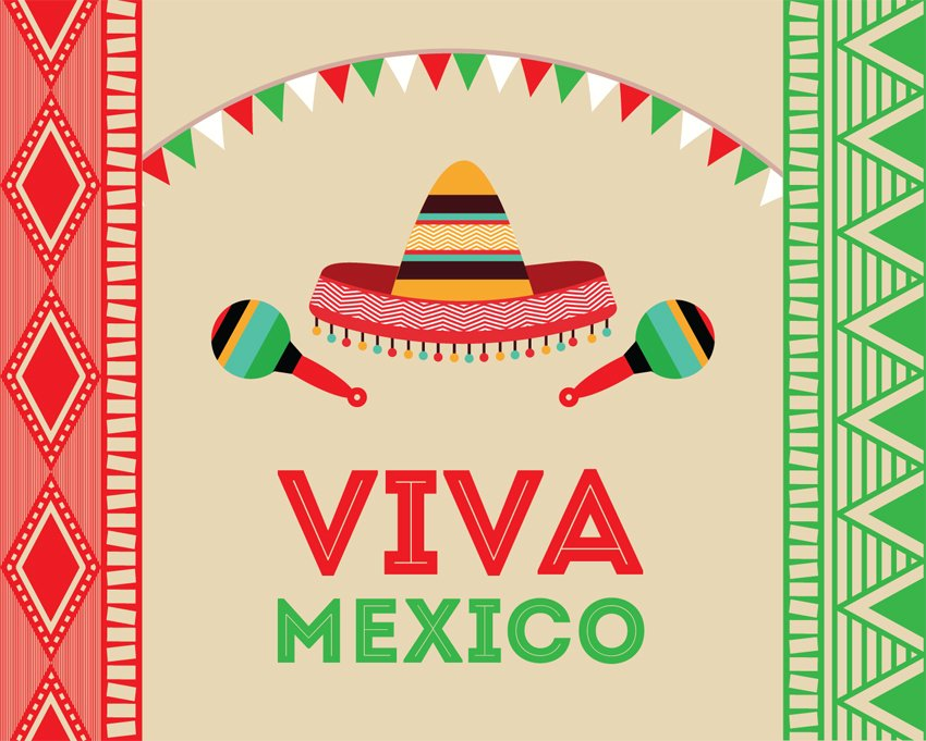 Backdrop Viva Mexico 6m x 3m $120 incl frame & gst