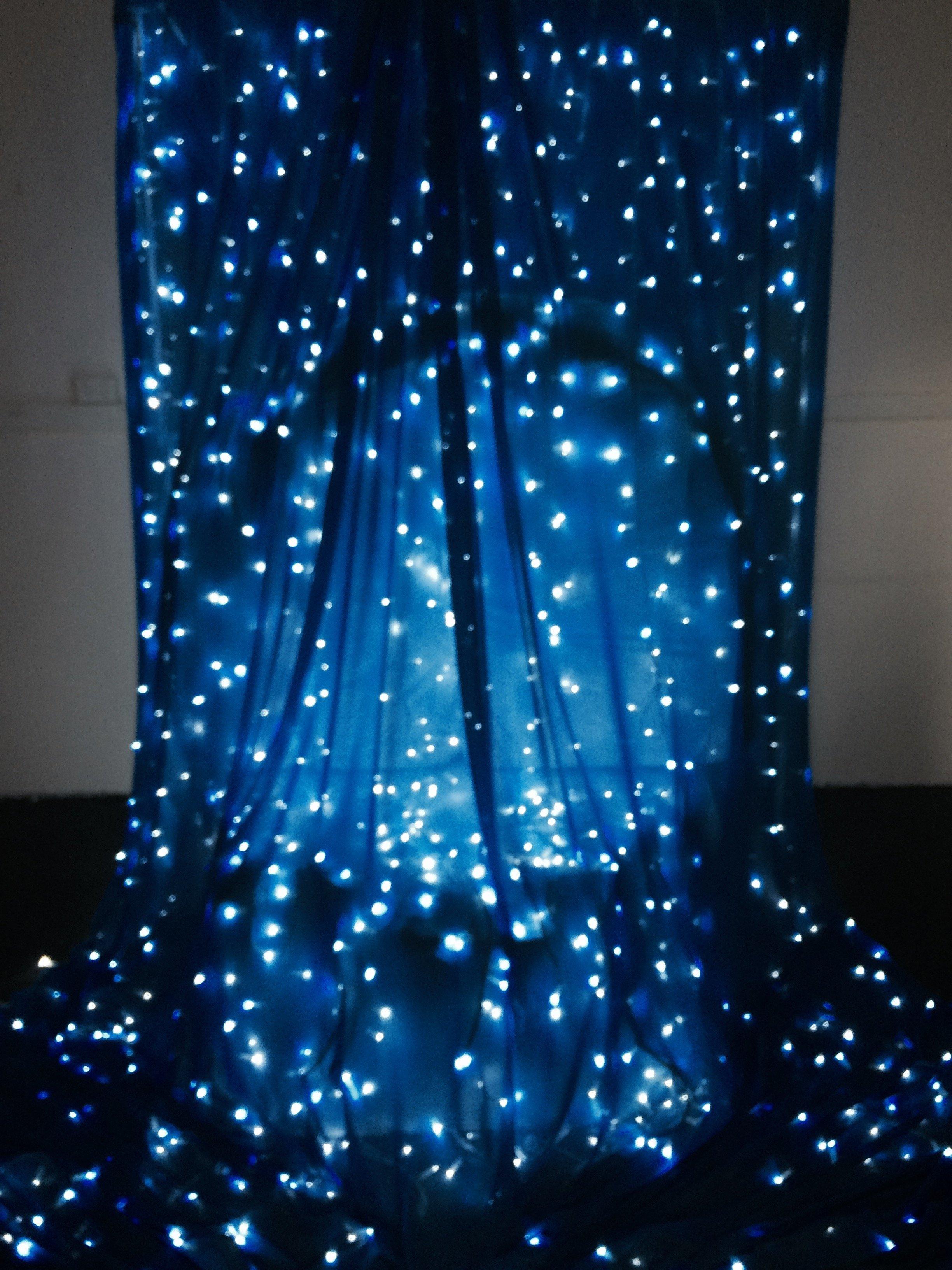 Custom made waterfall with lights,