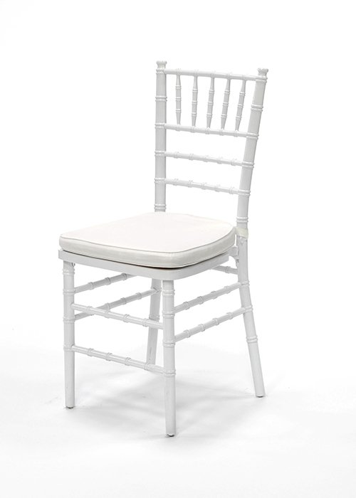 White Chiavari Chair with cushion $9.80 incl gst