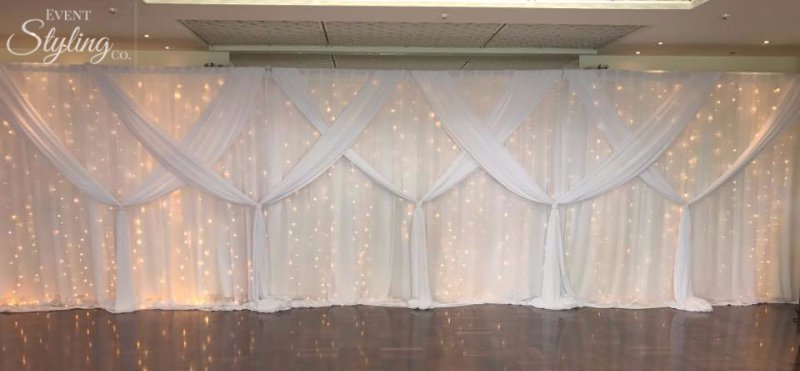 draping at Wedding event venue