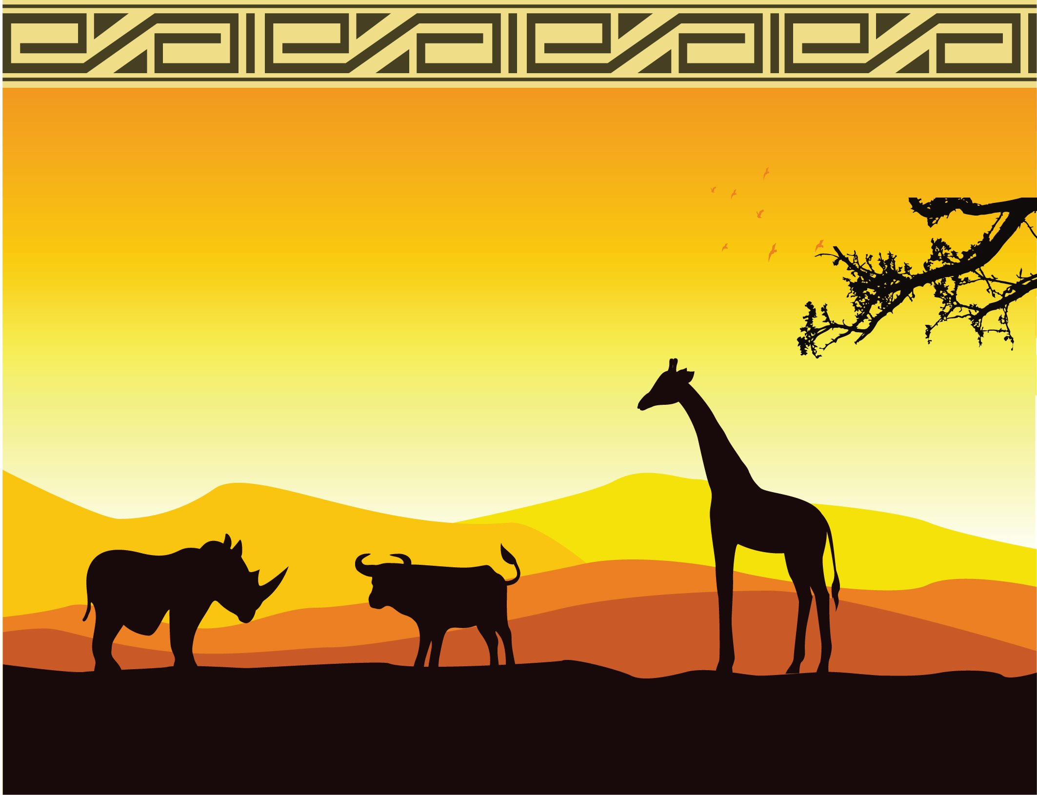 African backdrop right side 3m x 2.4m $60 incl frames & gst