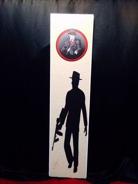 Tall Sign Gangster Man 2.4m x 0.60m $45 incl gst