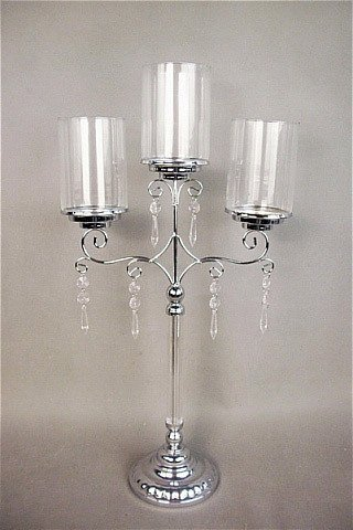 Candelabra Silver And Glass