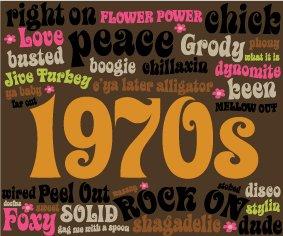 Prop Sign 1970's Messages 1.2m x 1.0m $45 incl gst