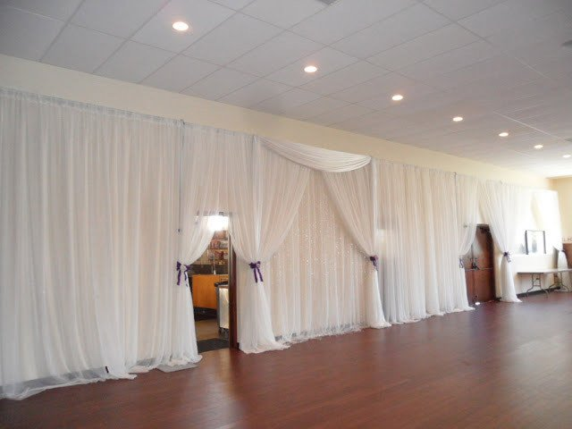 White Chiffon Room Draping