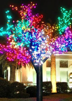 LED Blossom Tree can be set to various colour combinations. $150 2m x1.7m