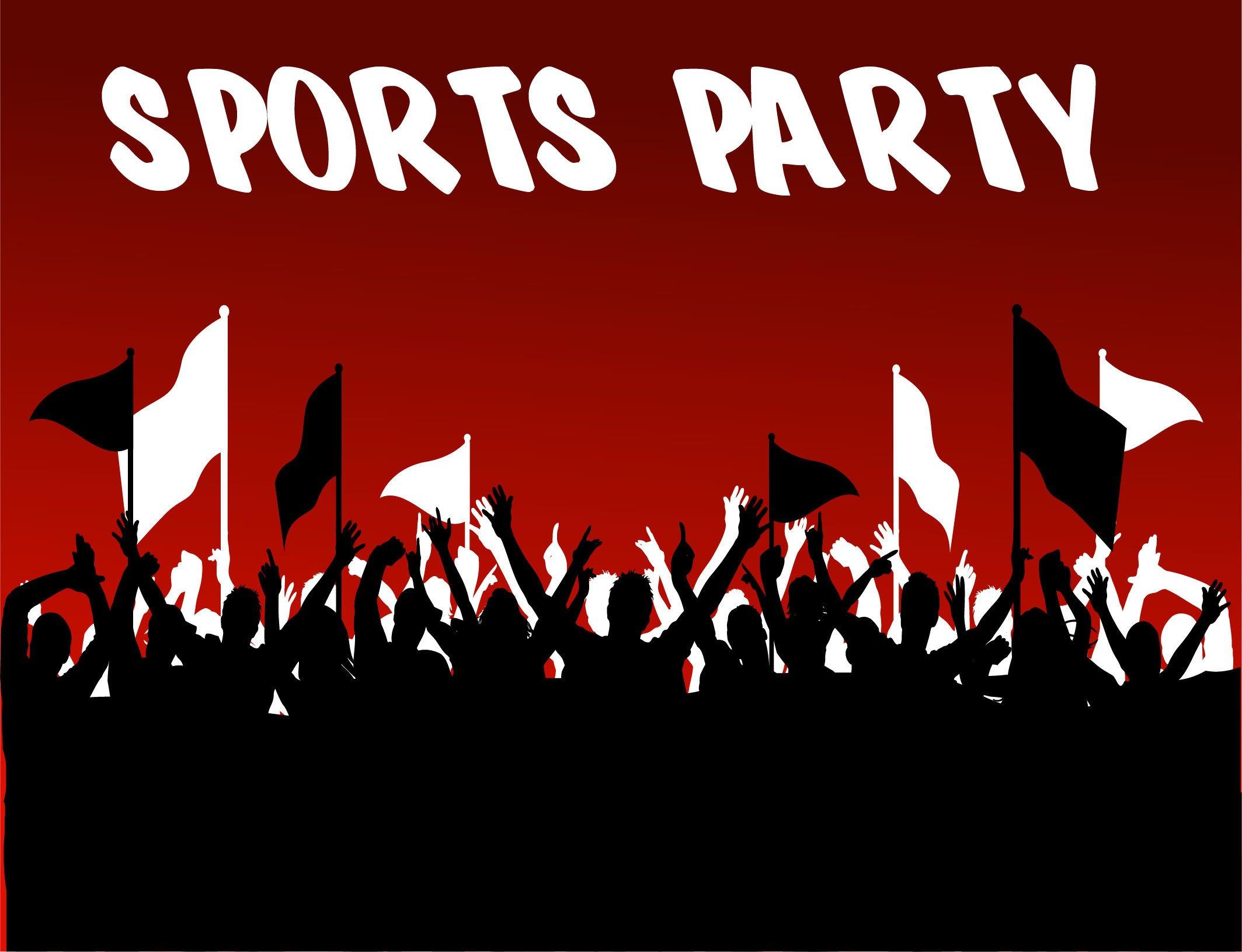 Backdrop Sports Party 3m x 2.4m $60 incl gst
