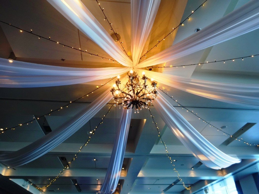Ceiling draping at Hilton Hotel Auckland