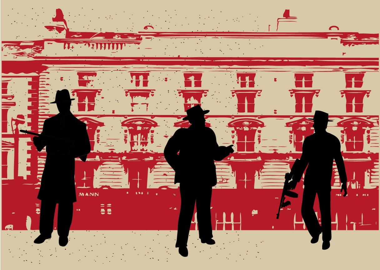 Backdrop 1920s Gangster 3m x 2.4m $60 incl frame & gst