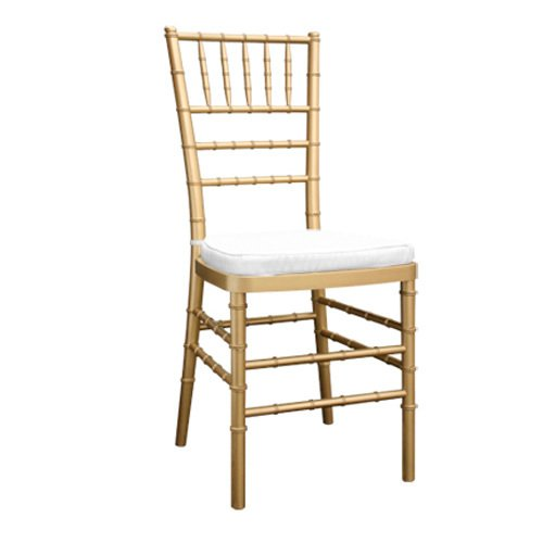Gold Chiavari Chair with cushion $9.80 incl gst