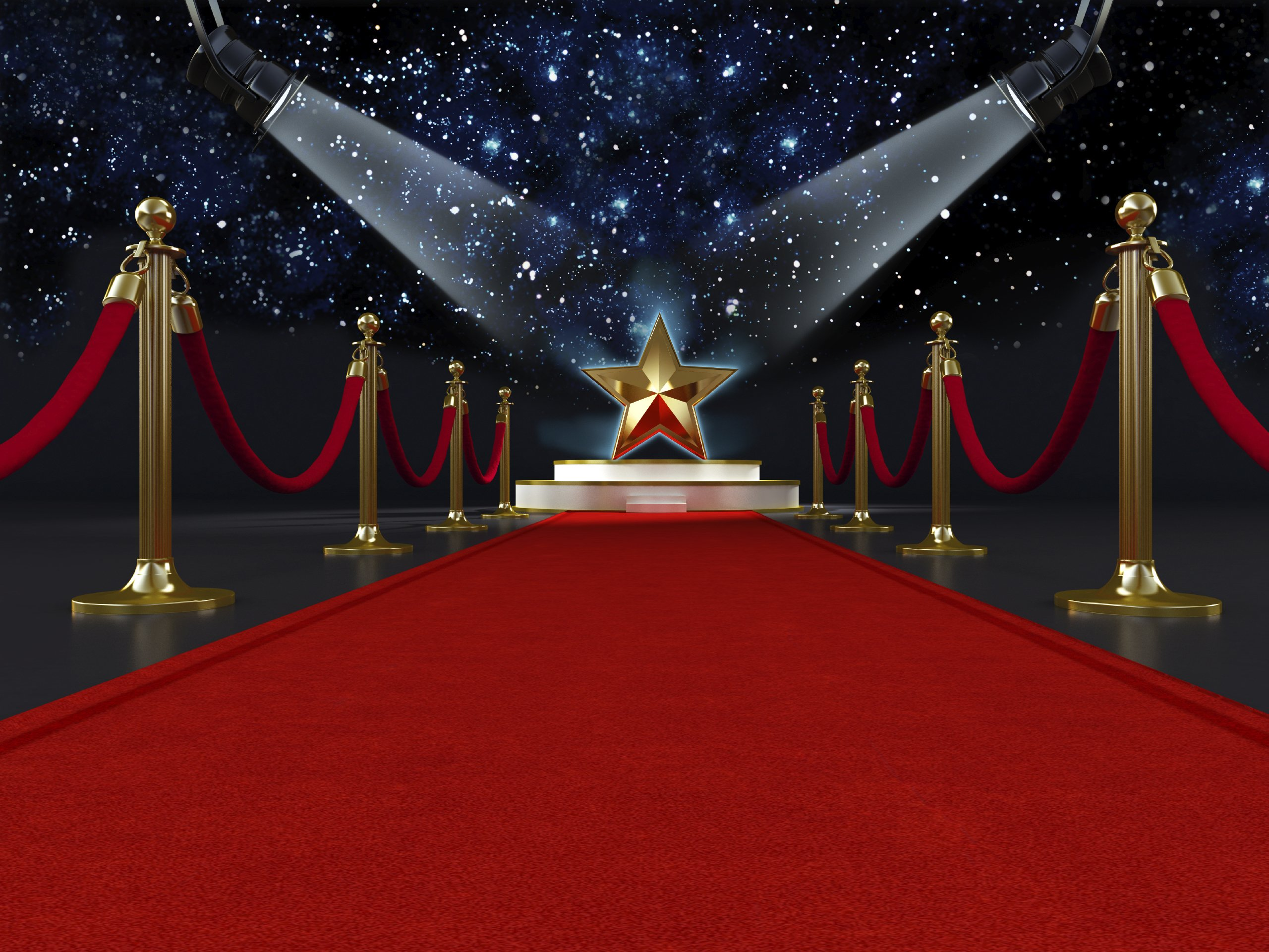 Backdrop Hollywood  3m x 2.3m $60 Incl frame & gst