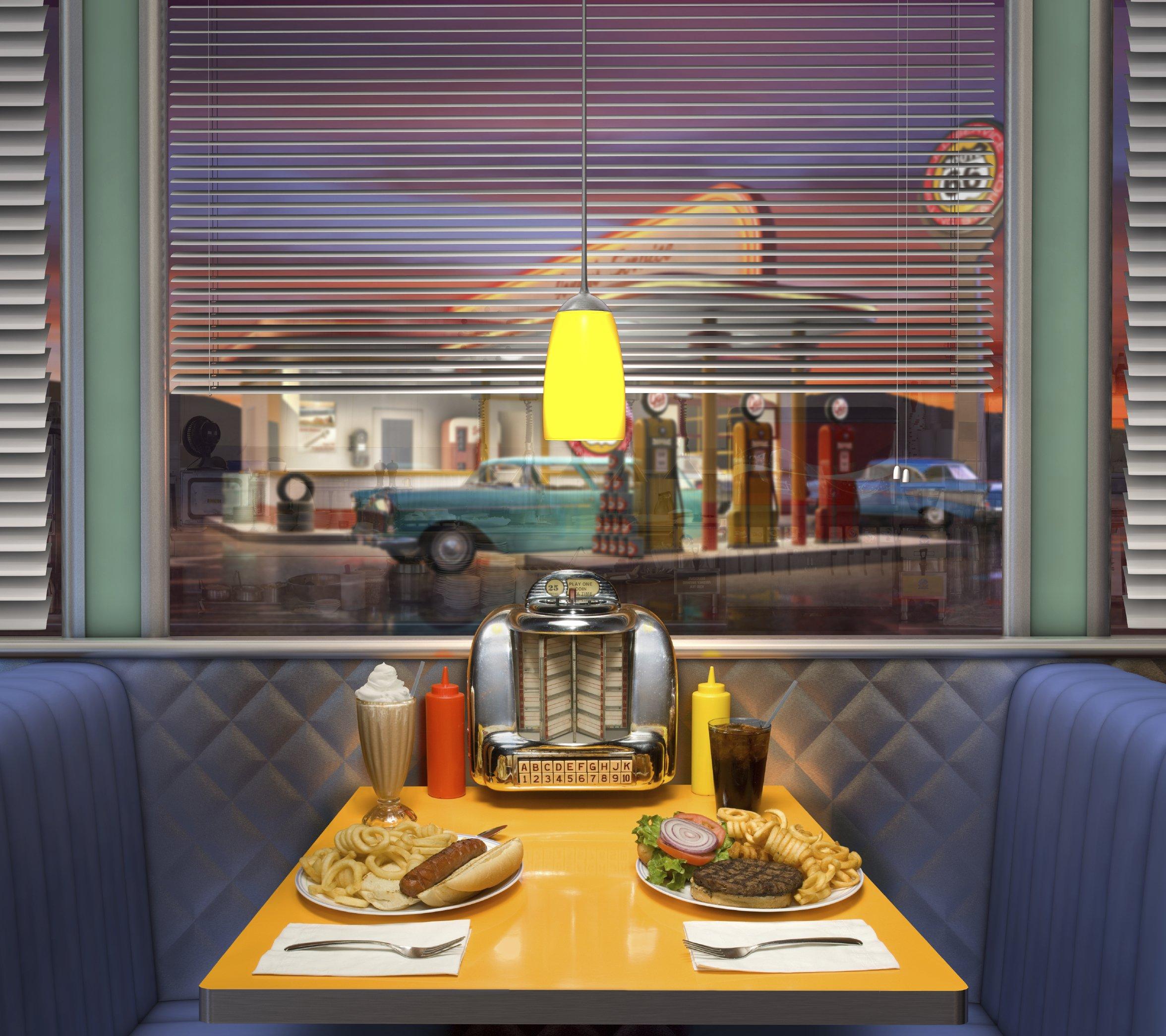 Backdrop 50s Diner 3.0m x 2.1m $60 includes frame & gst