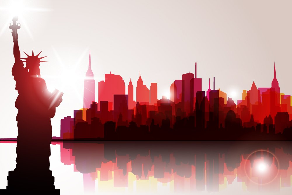 Backdrop New York 4.5m x 2.3m $100 incl frame & gst