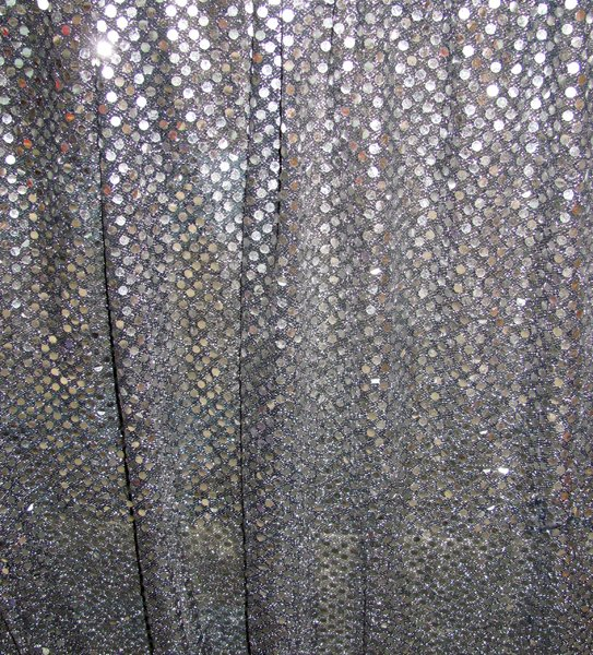 Silver sequin wall draping 3m wide x 2.4m highHire price from $30 incl frame and gst