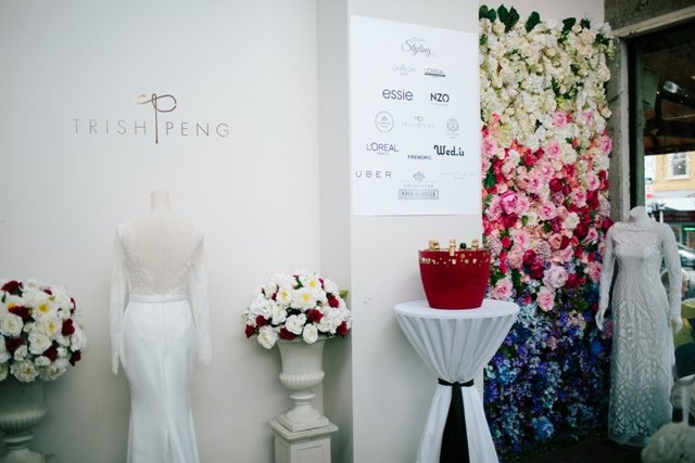 Trish Peng bridal fashion show and garden party decorations