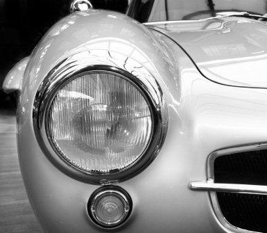 auto d'epoca, fanale, cromatura