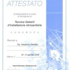 Certificazione installazione idrosanitaria