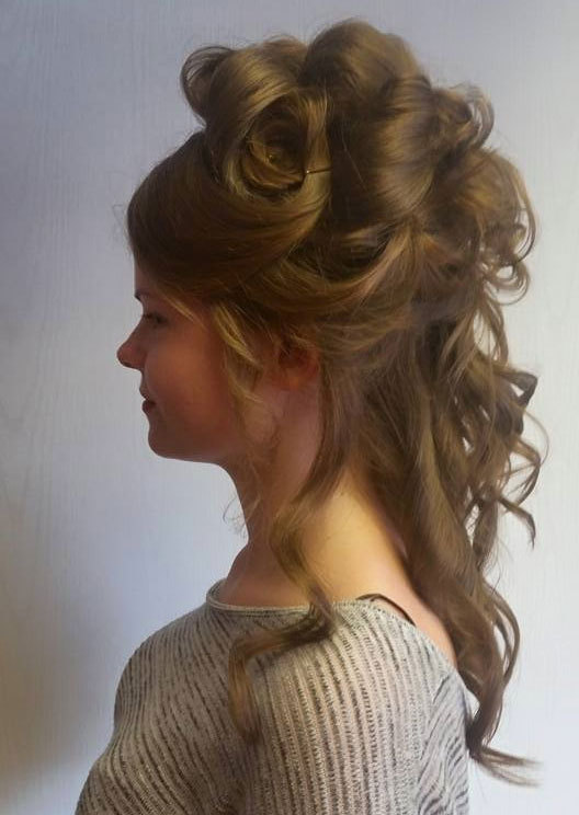 A teenage girl with occasion hair