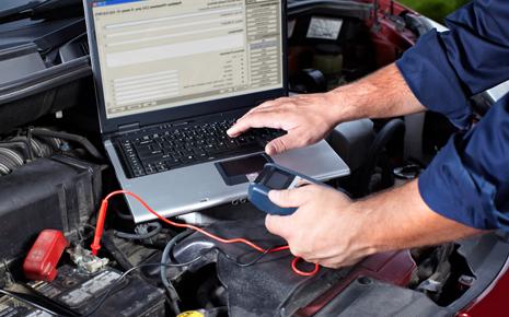 Technician providing transmission service in Madison