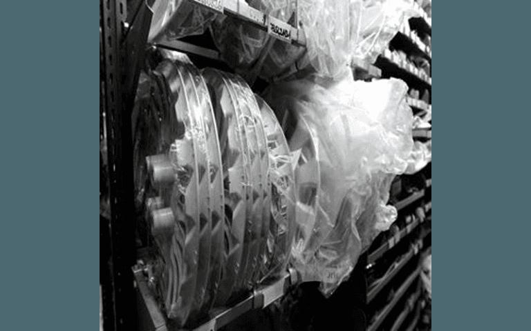 Parte della gamma dei cerchioni presenti in magazzino.