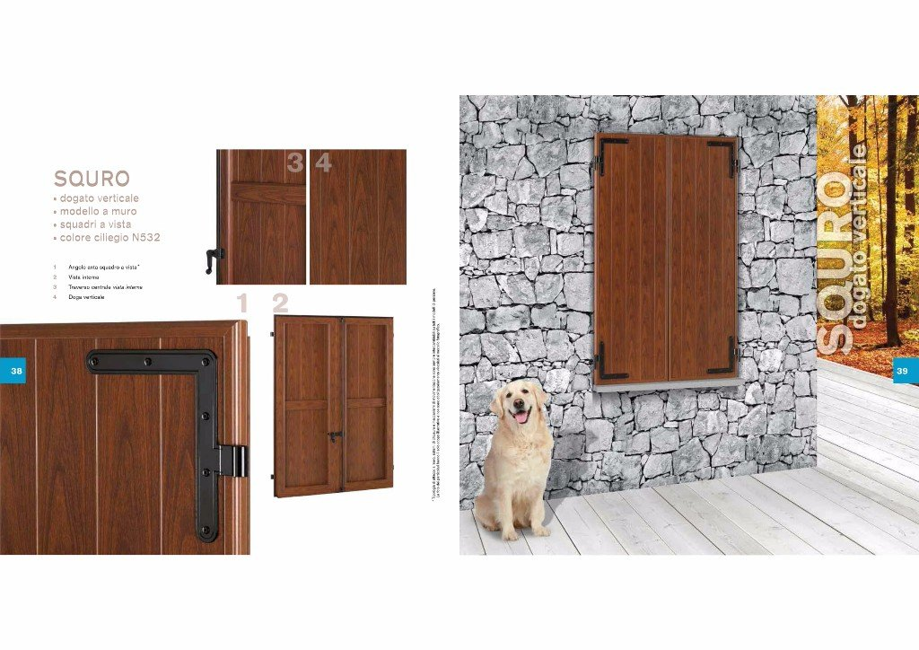 brochure con descrizione persiana con cane
