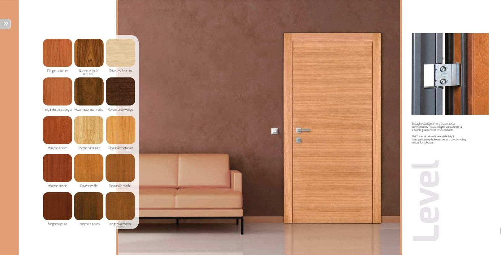 porta interna e divano
