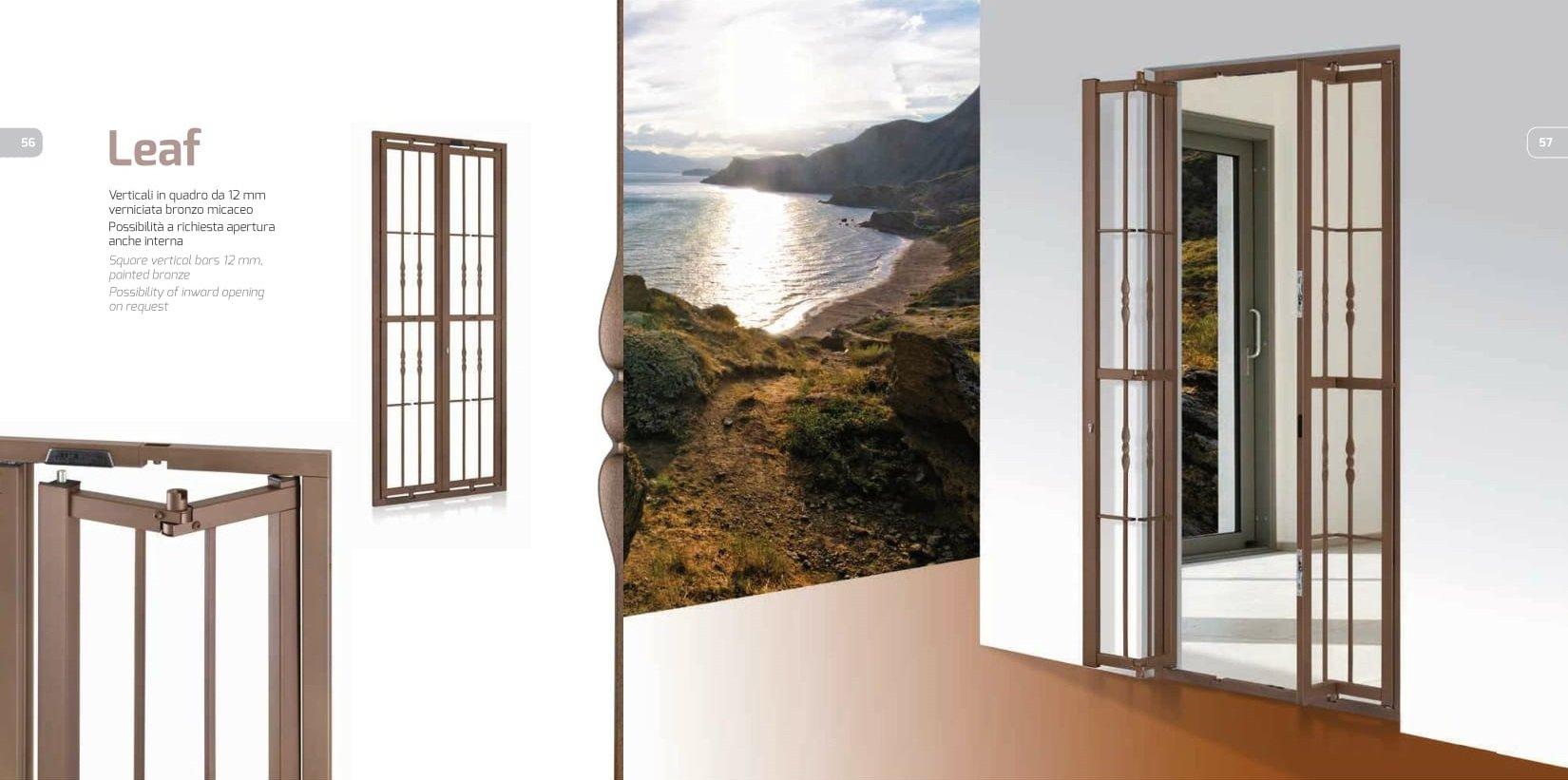porta e finestra con grata