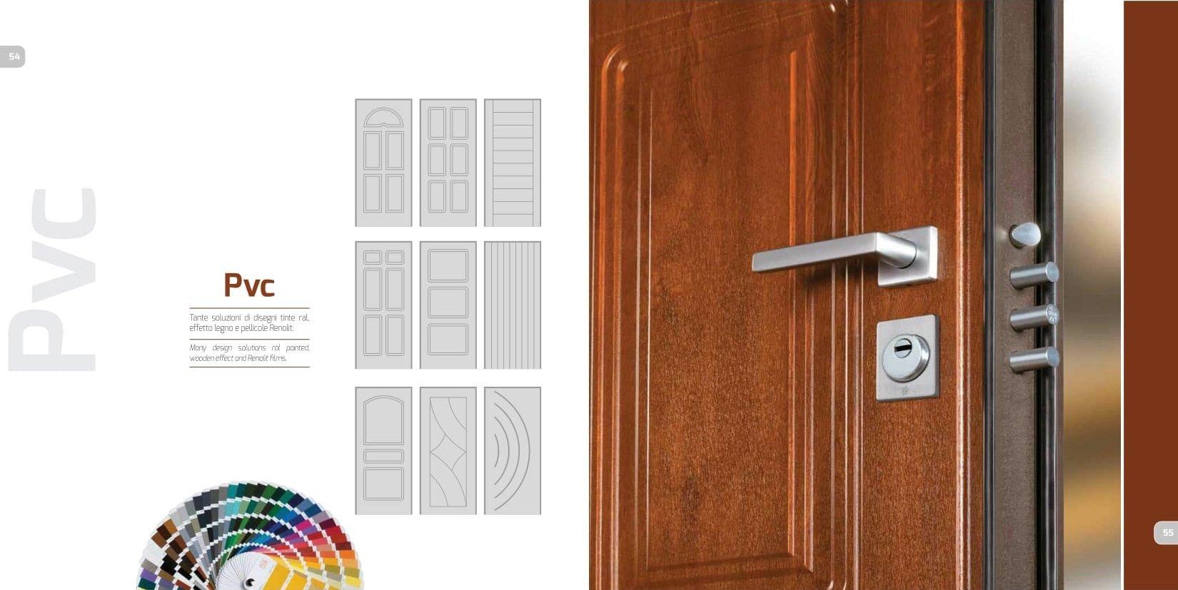 dettaglio e descrizione porta blindata legno