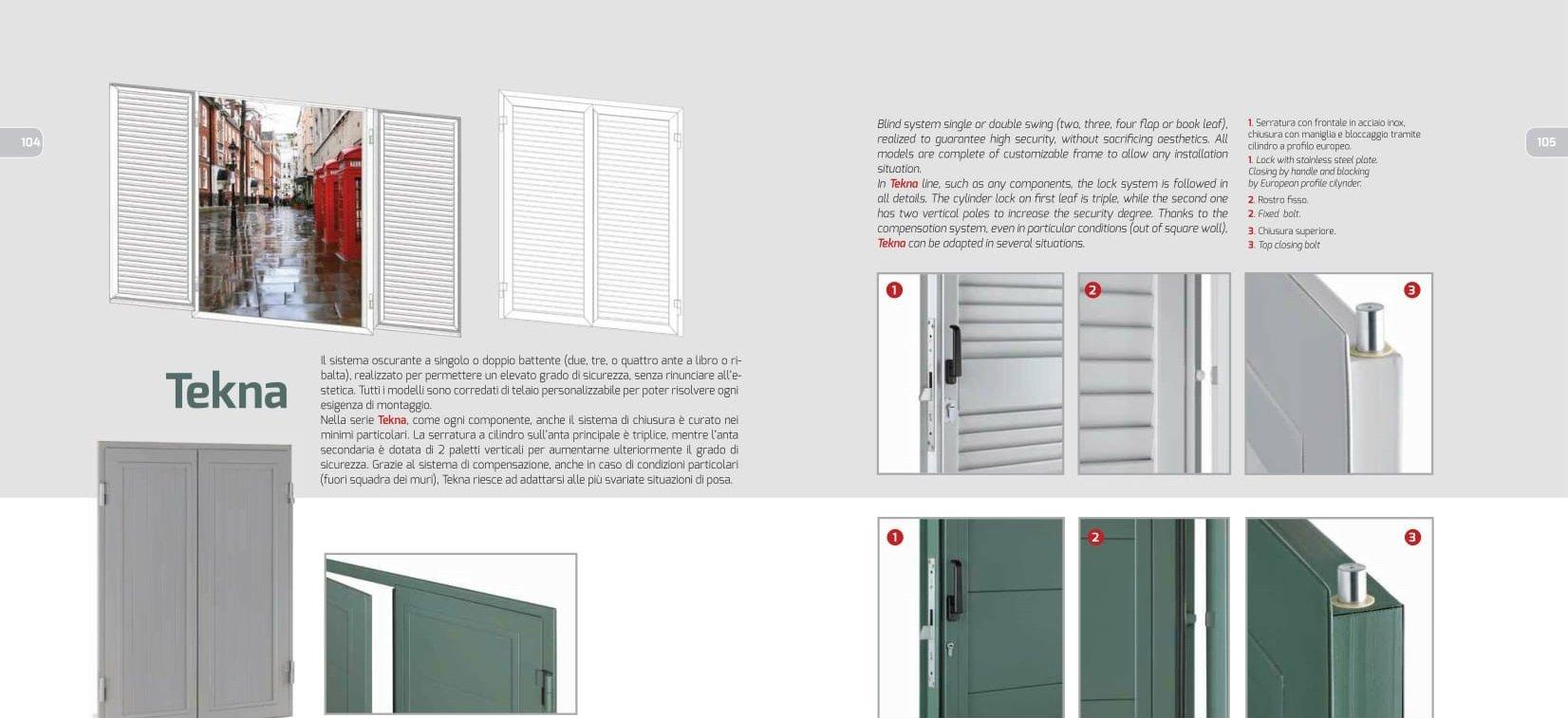 brochure con dettaglio porta