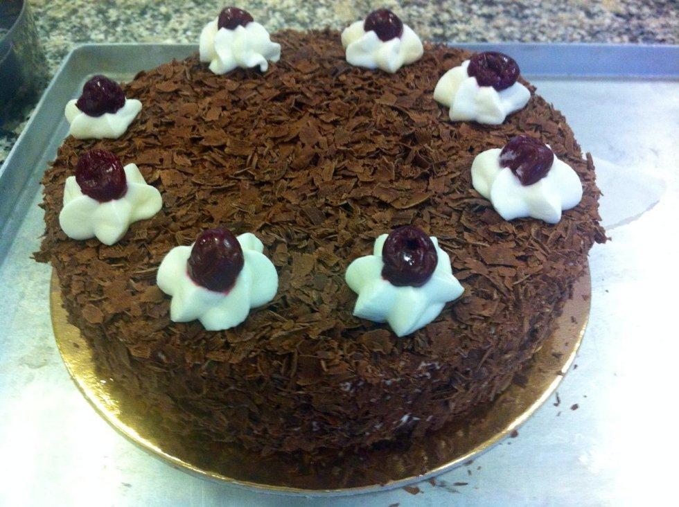 torta a base di cioccolato