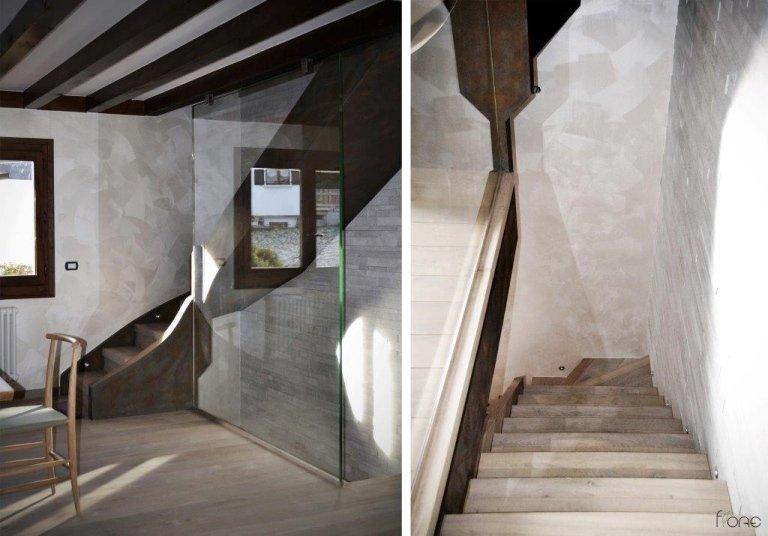 scala in legno e pietra