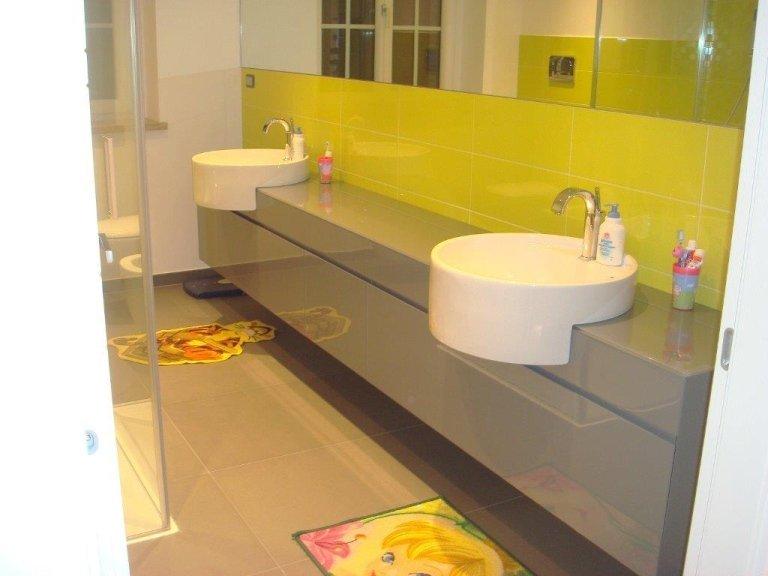 bagno con lavello doppio