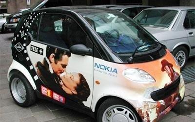 Auto Nokia serigrafata