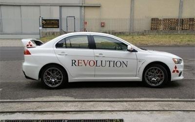 serigrafia Mitsubishi Revolution