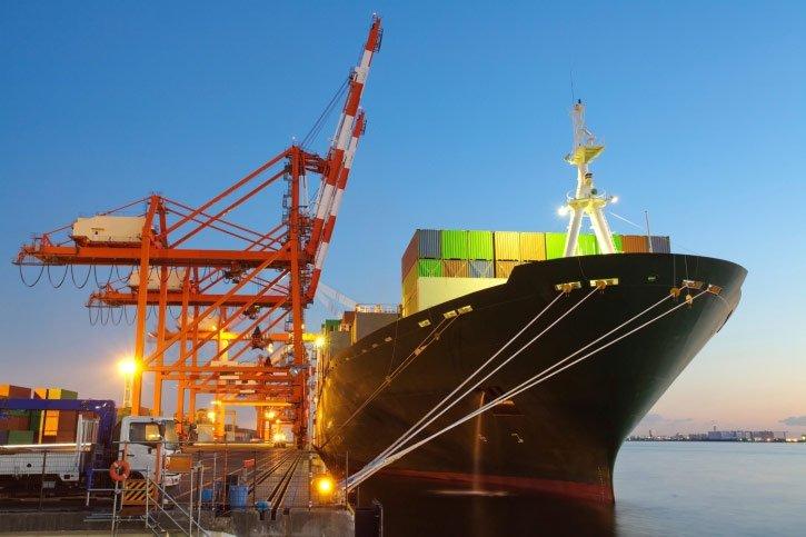 ship on a port