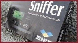 analizzatore di radiocomandi sniffer