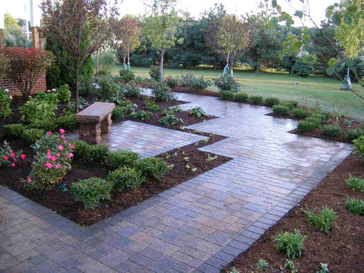 Brick Paver Garden Path