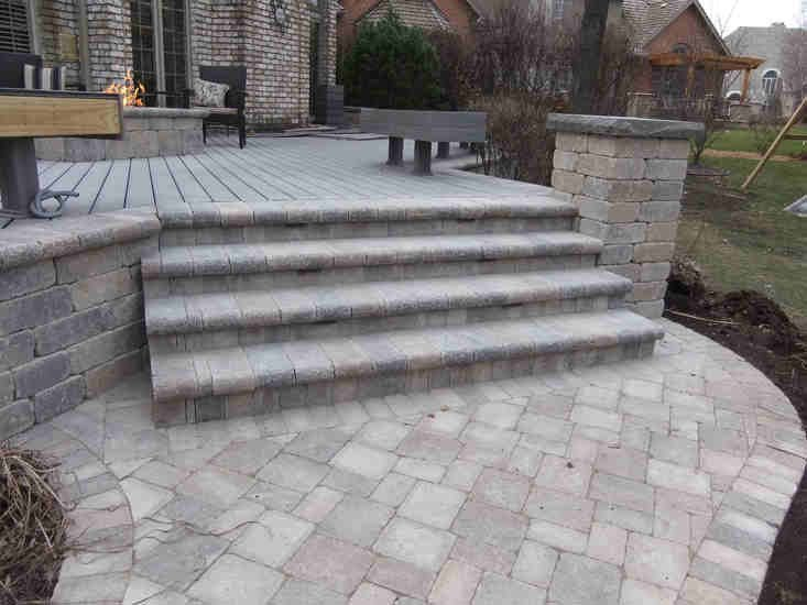 Brick Paver Patio with Fire Pit