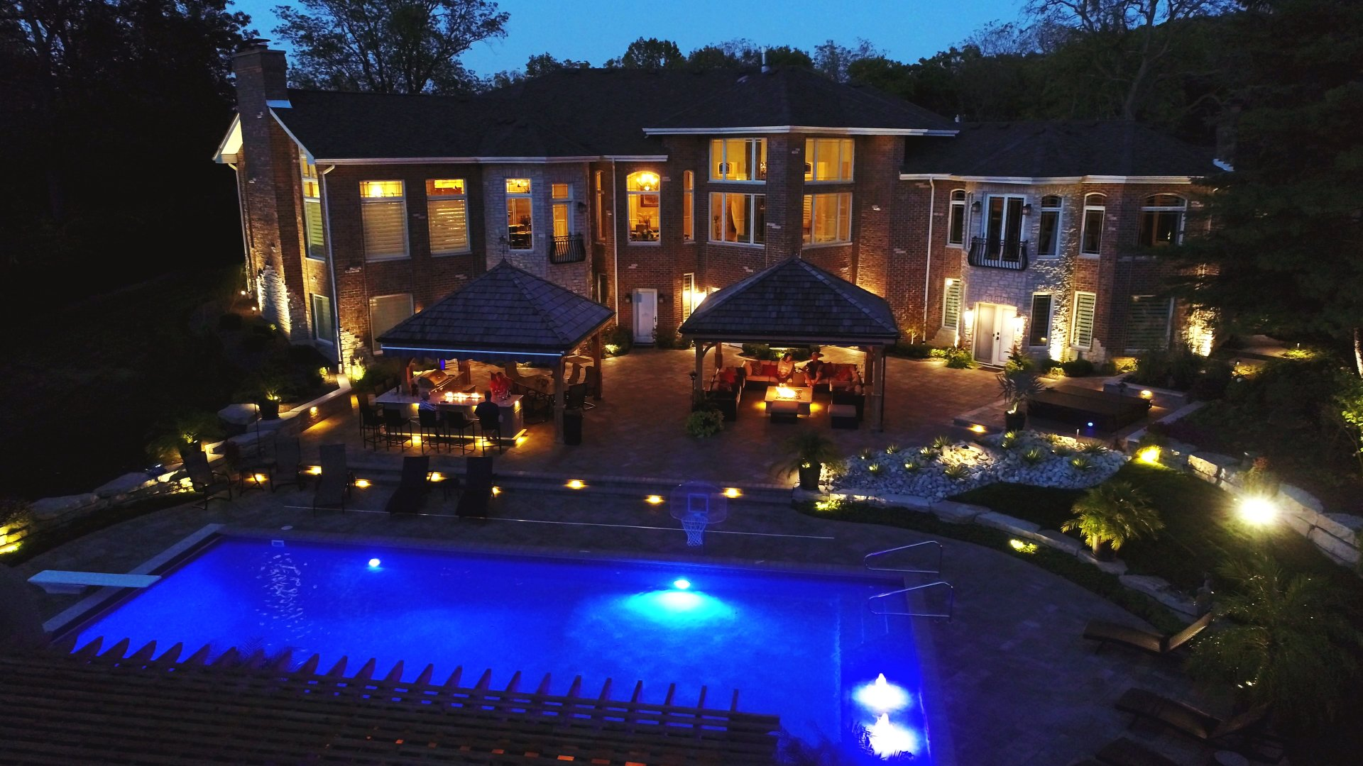 outdoor landscape lighting outdoor landscaping homer glen