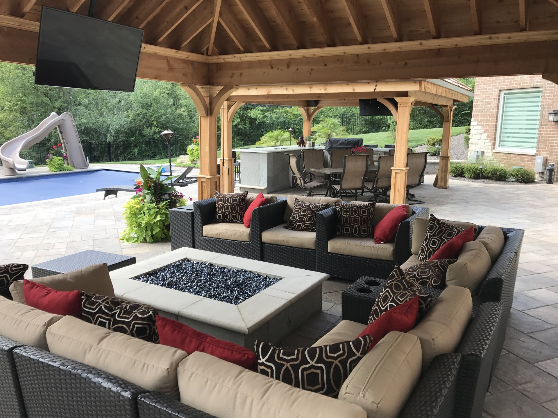 fire pits outdoor landscaping chicago garden designers