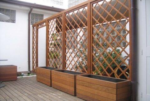 Strutture in legno faenza romagna garden for Grigliati con fioriera