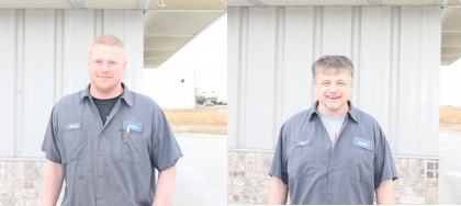 Dave and Brett, transmission fluid exchange experts in Lincoln, NE