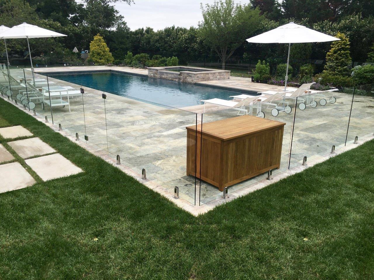 Glass Fence Pool Design Westport, New Canaan, Darien, CT
