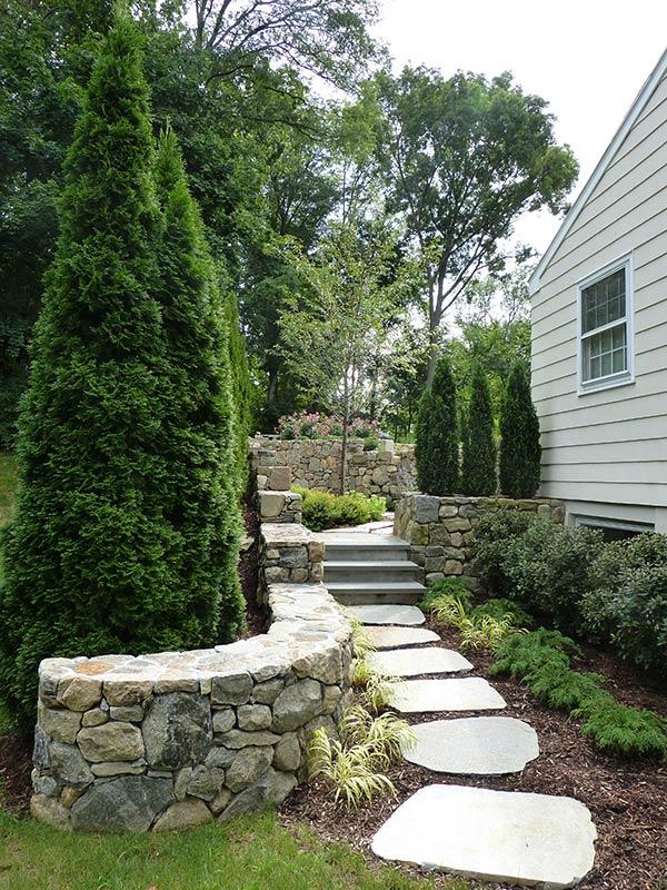 Concrete Patio Design Stepping Stones New Canaan, Darien, Westport, CT
